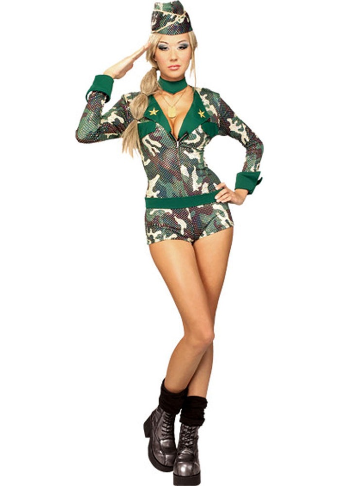 Sexy Army Girl Costume, Secret Wishes Soldier Fancy Dress