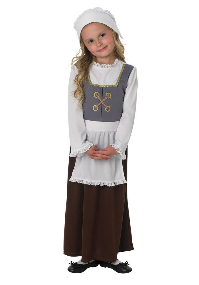 Kids Tudor Girl Costume, World Book Day Fancy Dress