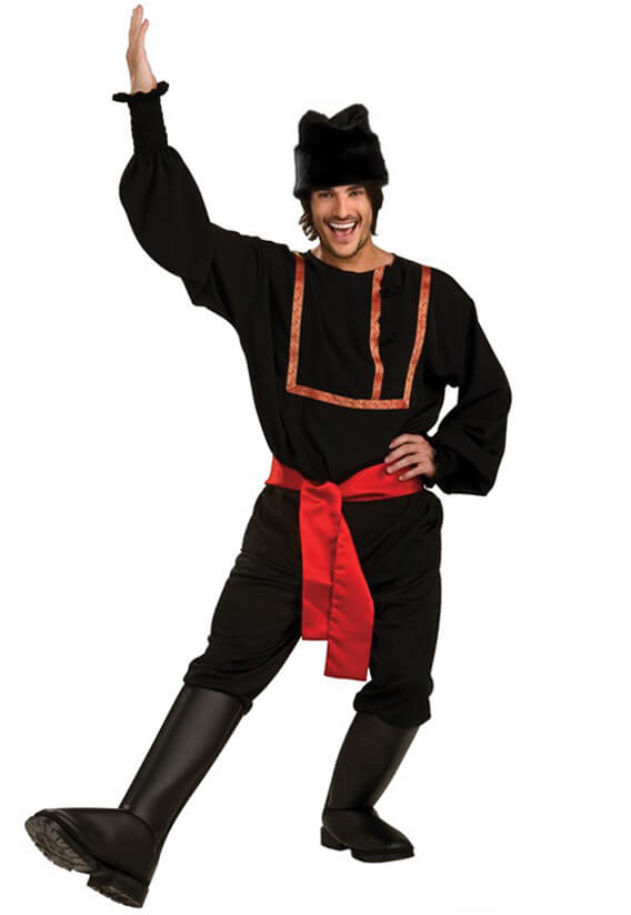 Russian Male Black Costume