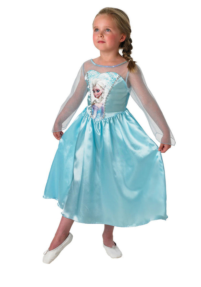 Kids Elsa Classic Costume Licensed Disney Frozen Fancy Dress