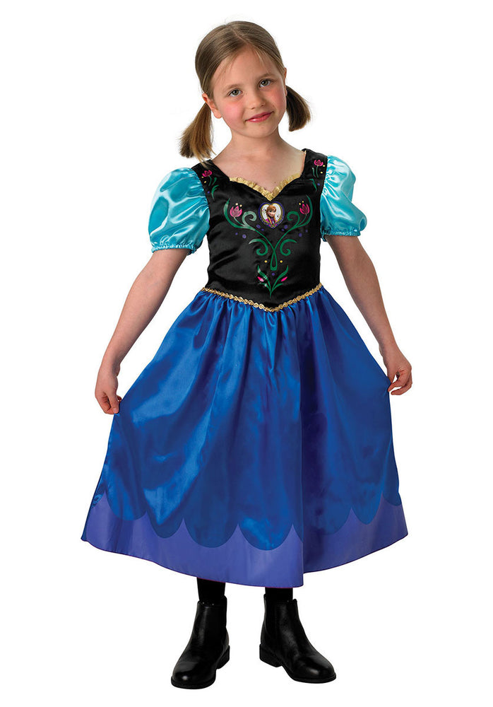 Kids Anna Classic Costume Licensed Disney Frozen Fancy Dress