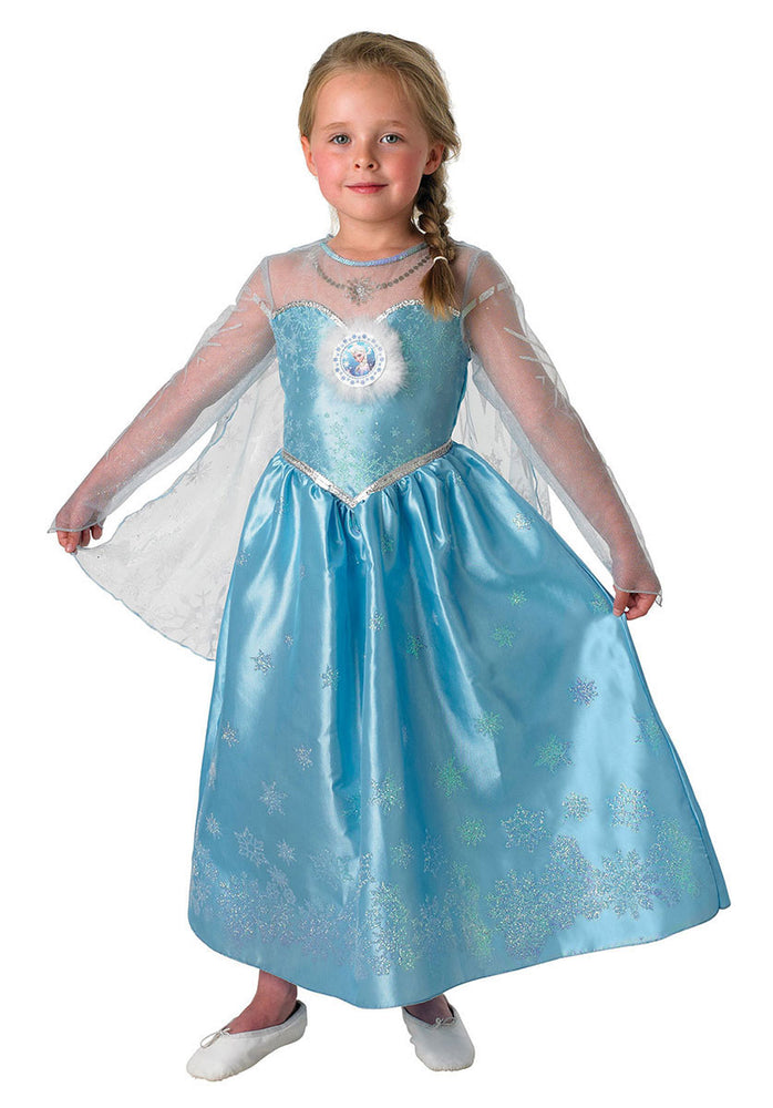 Kids Elsa Costume, Licensed Deluxe Disney Frozen Fancy Dress