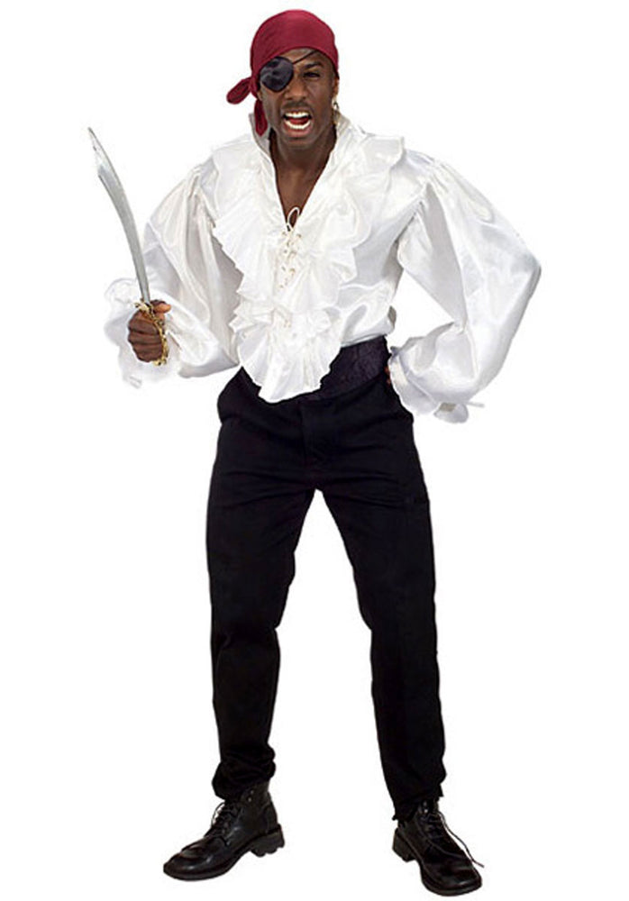 Pirate Shirt Satin, Pirate Fancy Dress