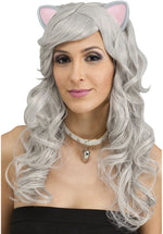 Fantasy Wig with Ears - Grey Mouse