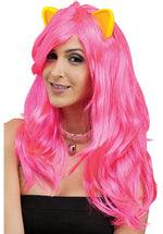 Fantasy Wig w/ Ears, Pink Cat
