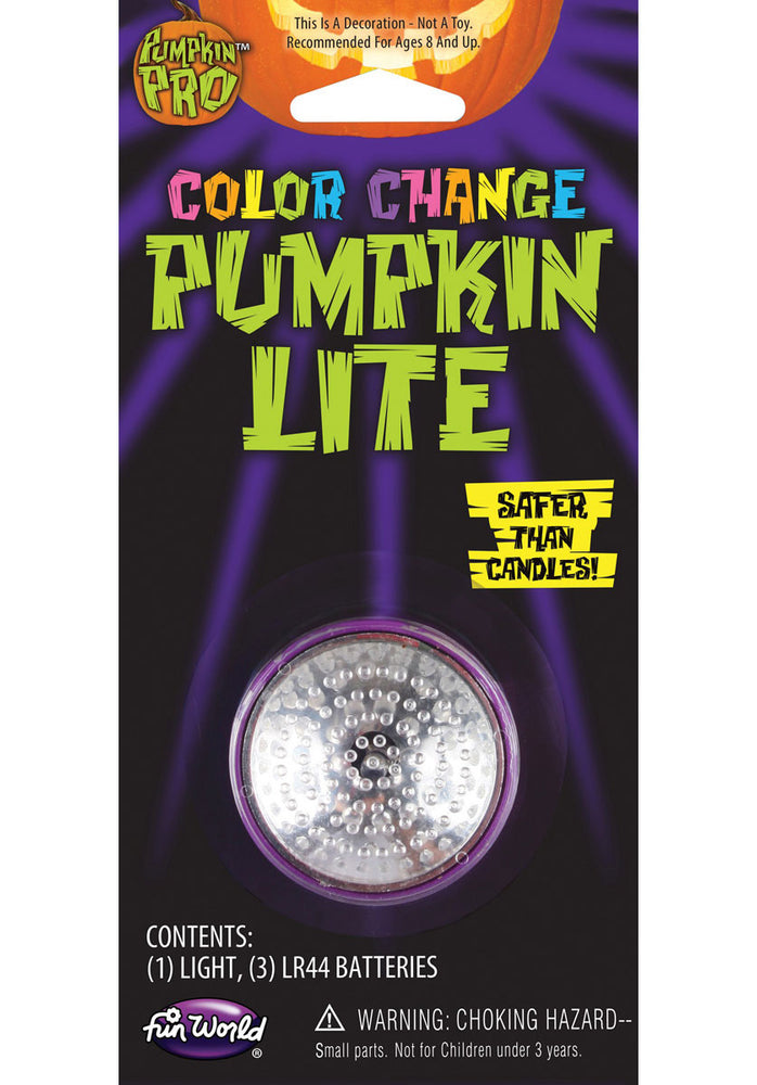 Pumpkin Light in three colours: Red, Green, Blue, Purple