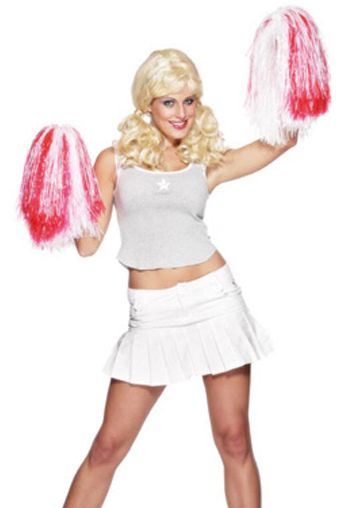 Pom Pom, Extra Large Red+White, Fancy Dress Accessories
