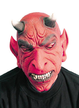 Devil mask, Red, With Horns Smiffys fancy dress