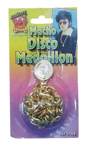 70s Disco Gold Medallion