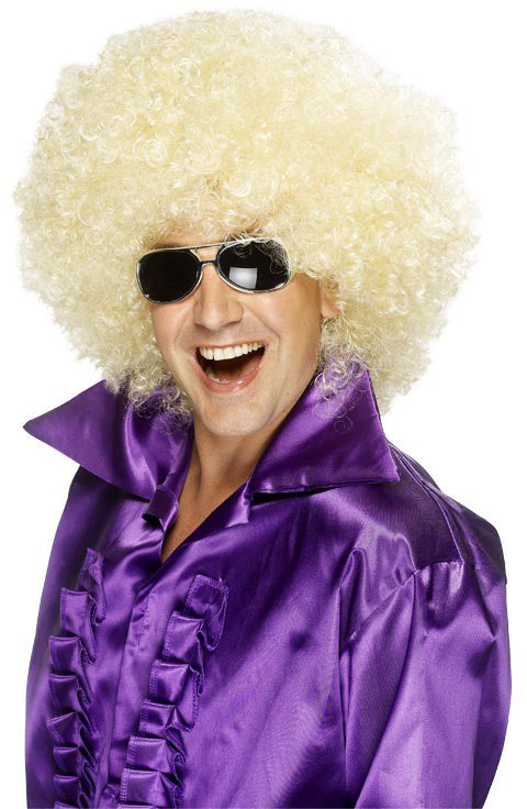 Afro Mega-Huge, Blonde Wig (Male) ,Smiffys fancy dress