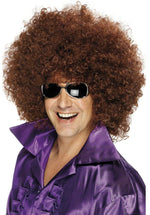 Afro 70's Brown Wig, Fancy Dress Accessory