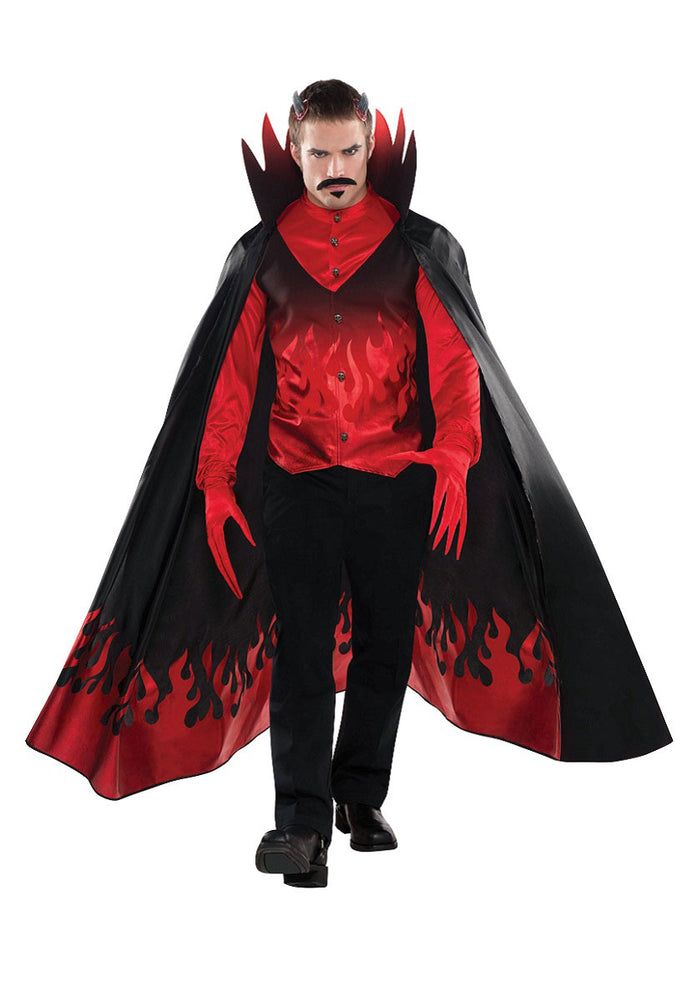 Diablo Devil Prince of Darkness Lucifer Satan Mens Halloween Costume Standard Size