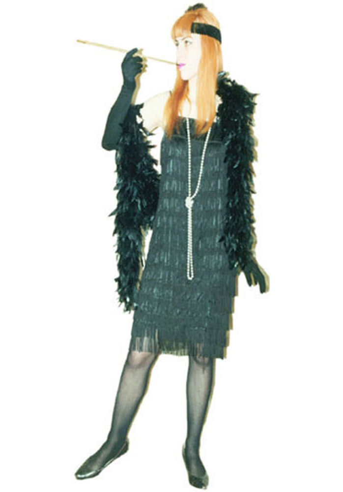 1920s Flapper Black Fringe A08