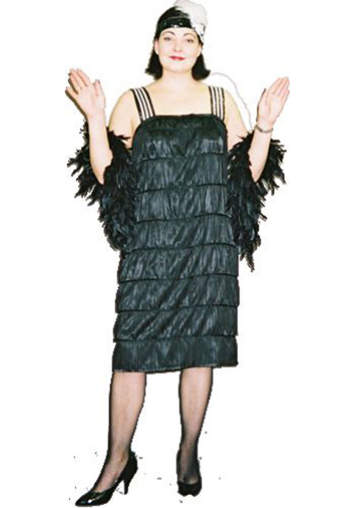 1920s Flapper Black Fringe A11