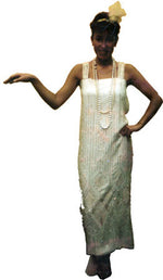 1920s Flapper Cream Dress A15