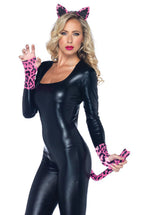 Neon Pink Leopard Costume Set, Leg Avenue Fancy Dress