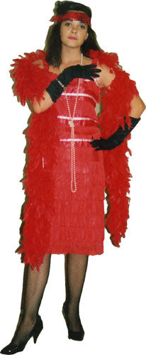 1920s Red Flapper Fringe A30
