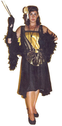 1920s Flapper Yellow and Black A39