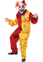 Red Yellow Spiders Adult Evil Clown Costume