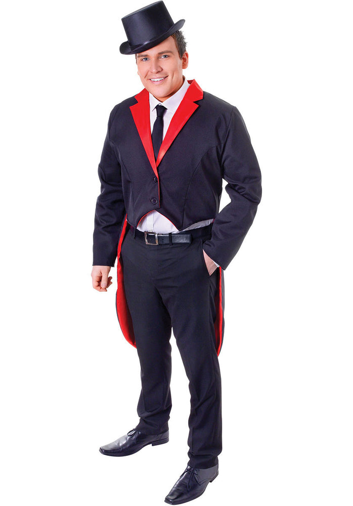 Black Adult Tailcoat for Men Novelty Fancy Dress