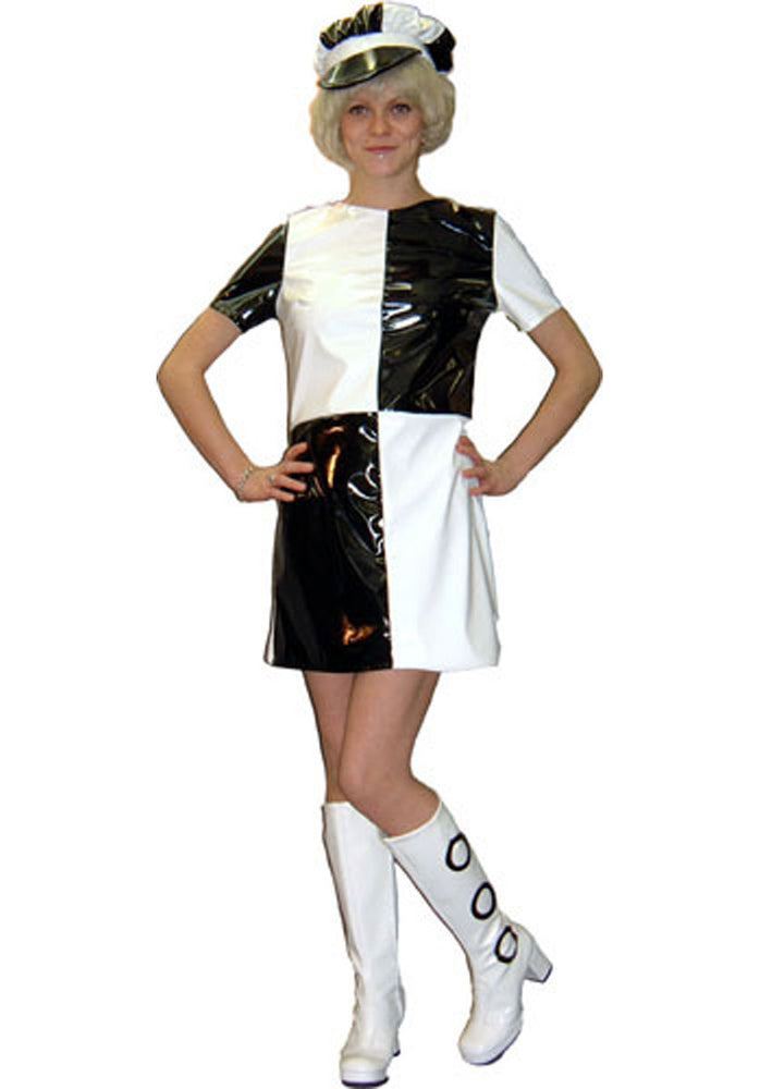 1960s PVC Mary Quant Mini Dress B56