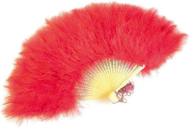 Feather Fan - Red