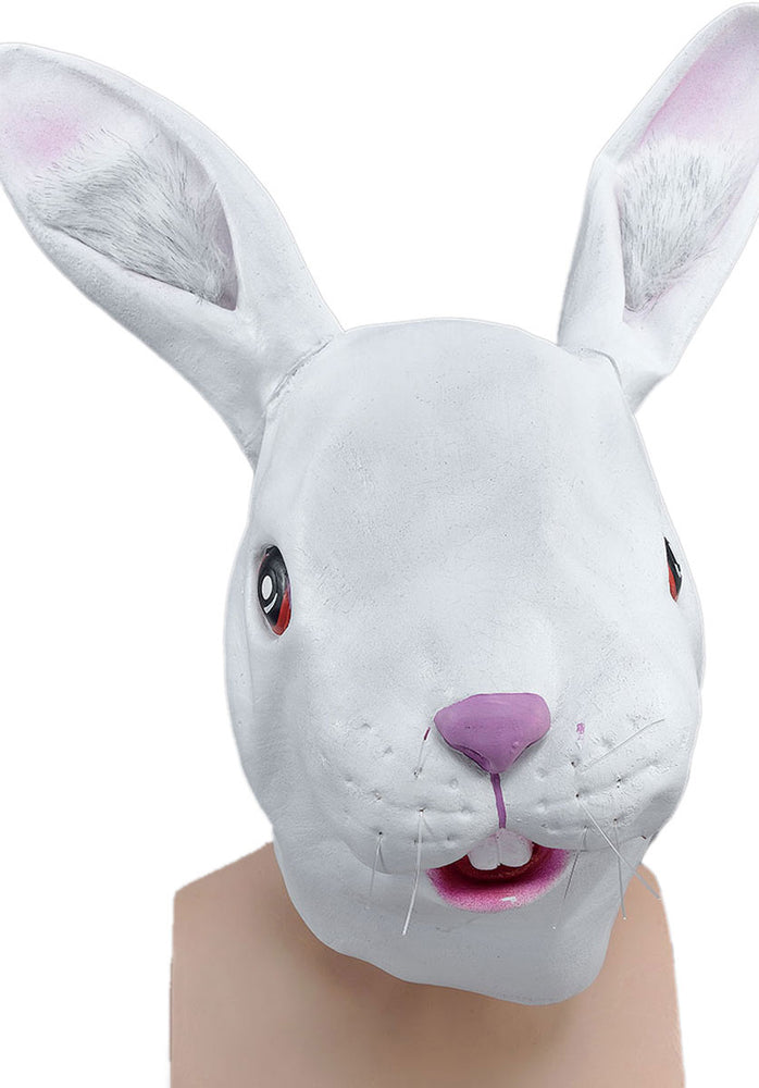 Adult Rabbit Mask, Full Head and made of Rubber