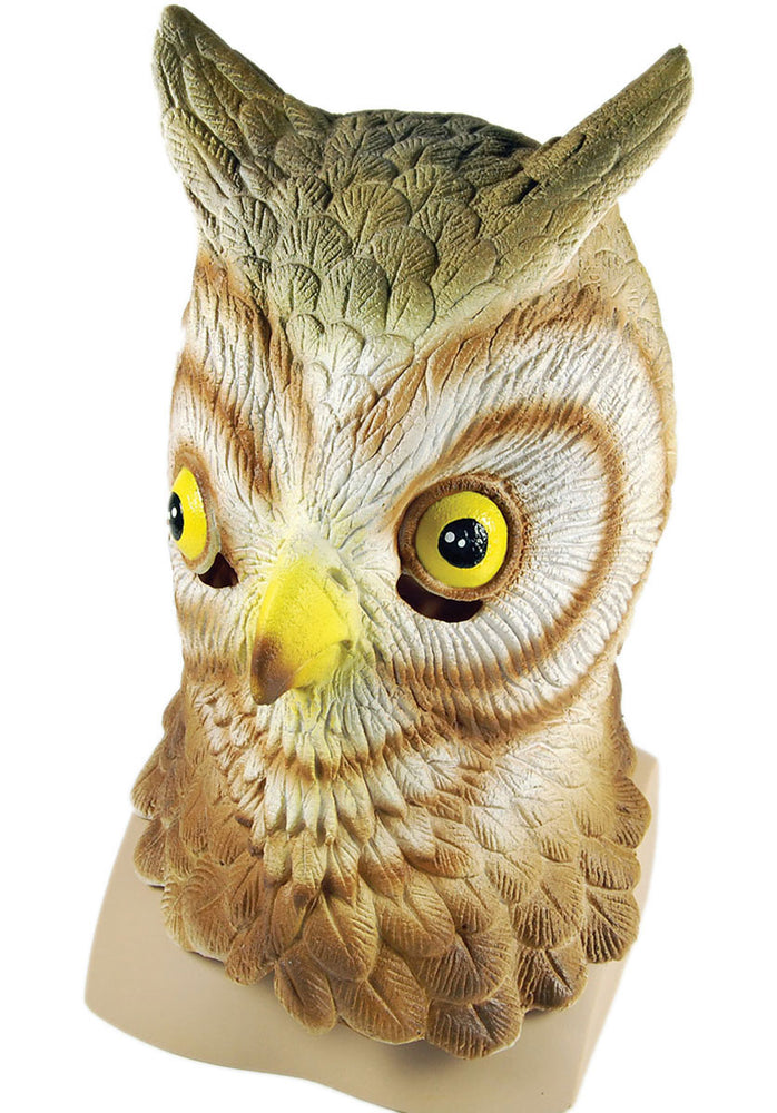 Adult Owl Mask, Full Head made of Rubber