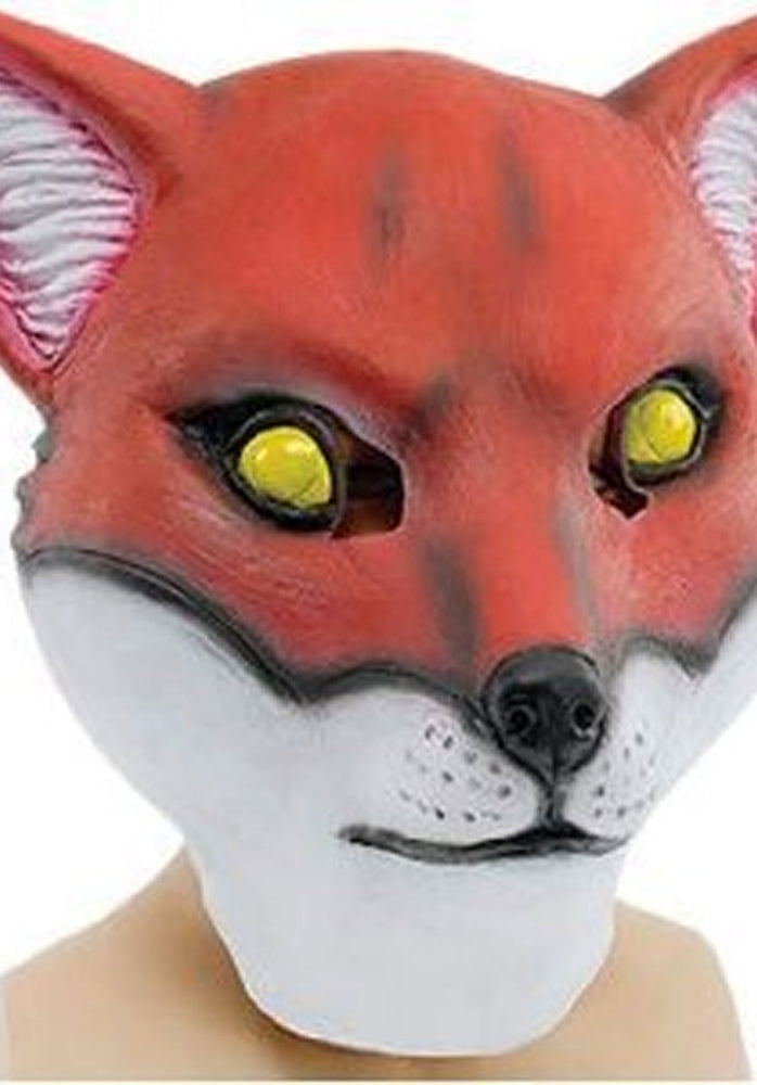 Adult Size Full Head Fox Mask Made of Rubber