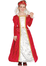 Red Princess Costume for Kids, Historical Fancy Dress