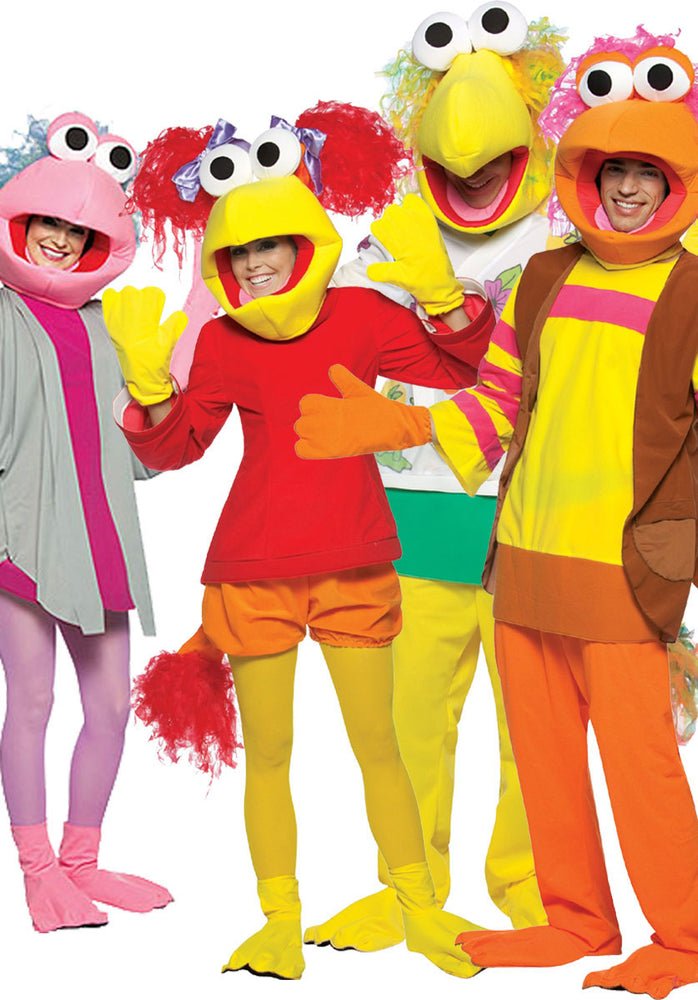Adult Fraggle Rock Four Pack Costume Set, 80s Fancy Dress