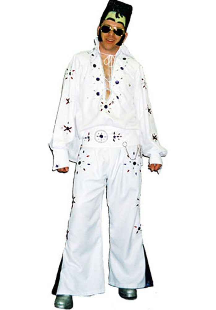 Elvis Costume White & Blue G38