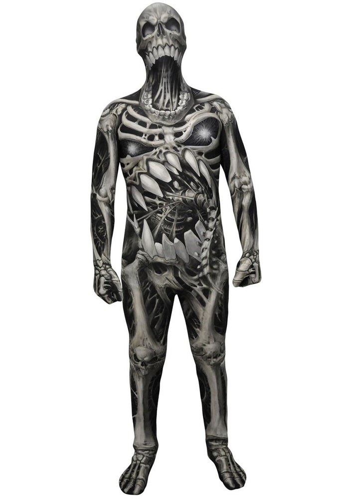 Childrens Angry Skeleton Skull and Bones Scary Morphsuit Halloween