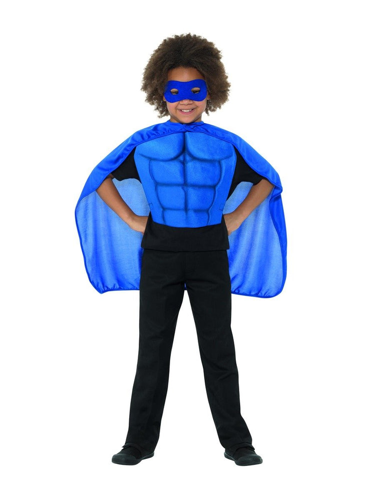 Smiffys Kids Superhero Kit, Blue - 41164