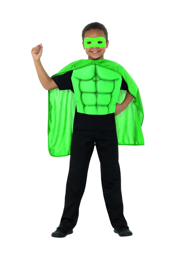 Smiffys Kids Superhero Kit, Green - 41163