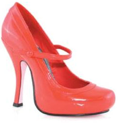 Leg Avenue Mary Jane Shoes, Red