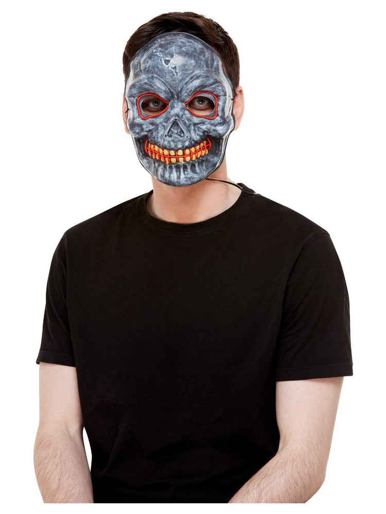 Smiffys Skeleton Mask, Light Up - 52361