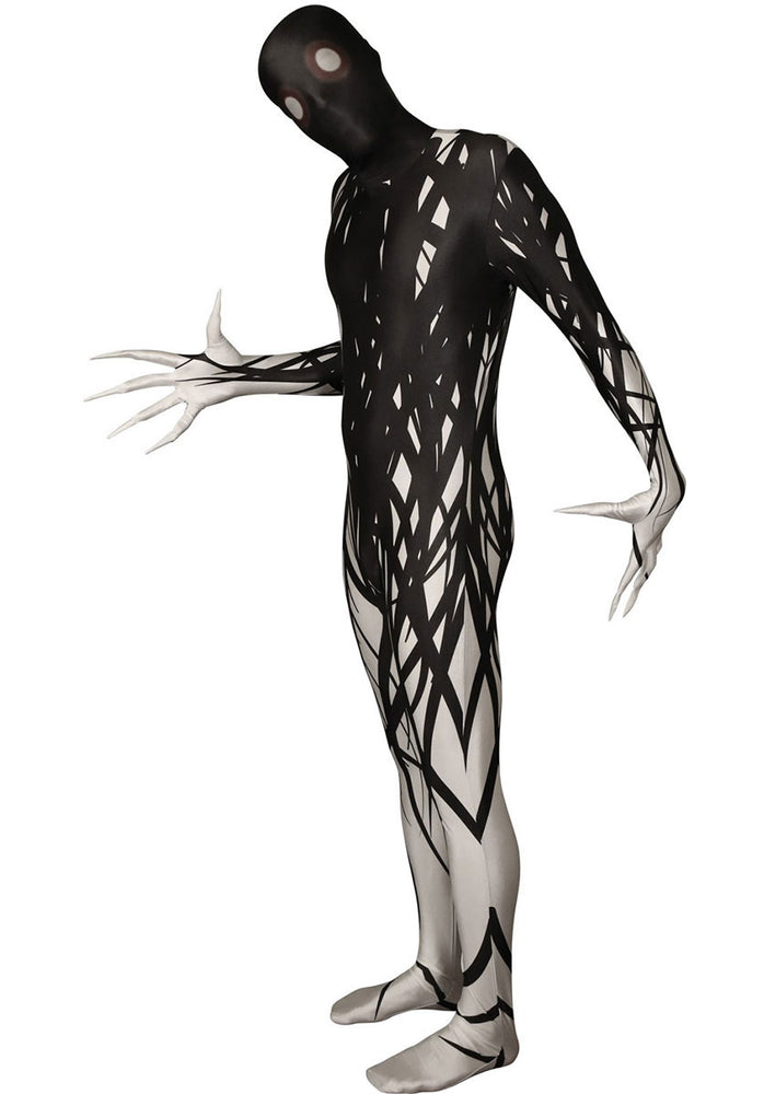 Creepy Zalgo Black and White Adult Unisex Morphsuit Halloween