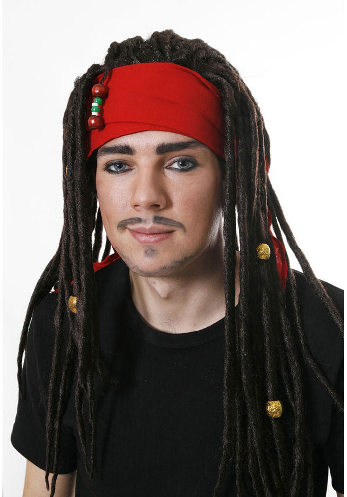 Pirate Wig with Dreads & Bandana