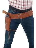 Adult Faux Leather Single Holster with Belt, Tan40305