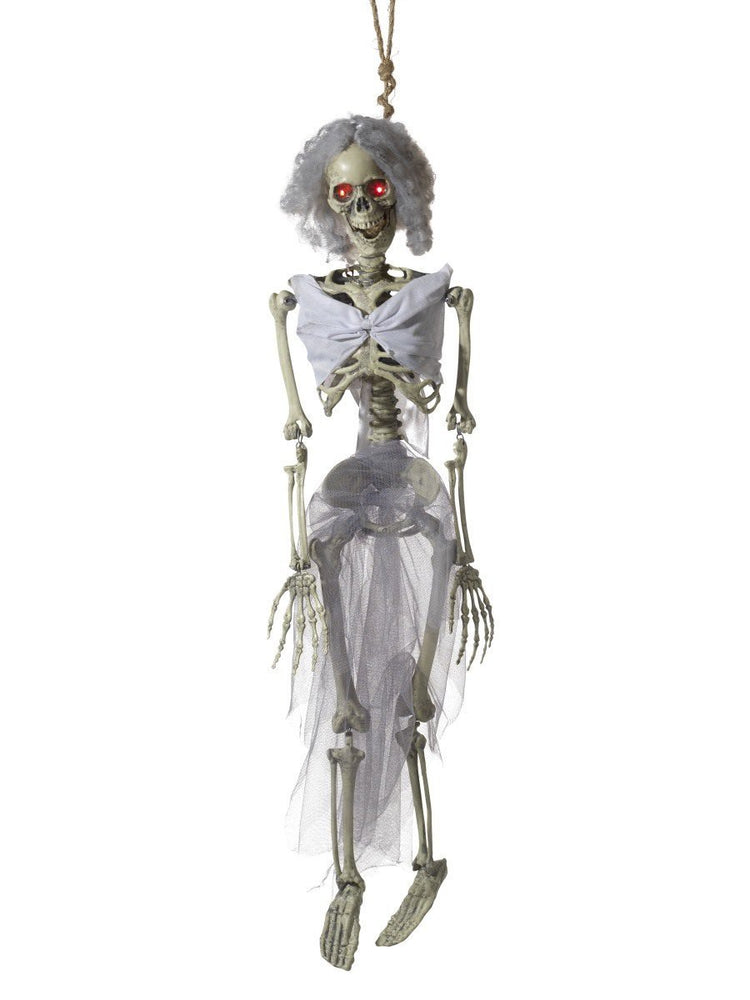 Smiffys Animated Hanging Bride Skeleton Decoration - 46899