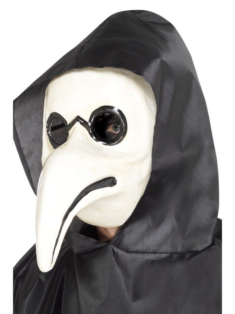 Smiffys Authentic Plague Doctor Mask, White - 45036