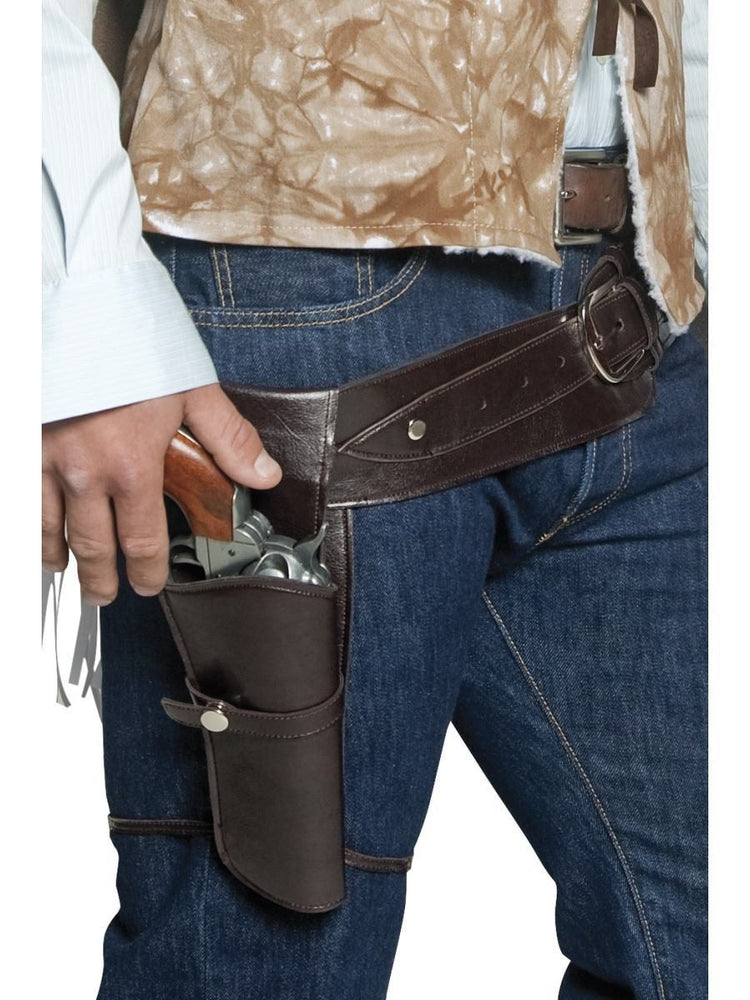 Smiffys Authentic Western Wandering Gunman Belt & Holster - 33097