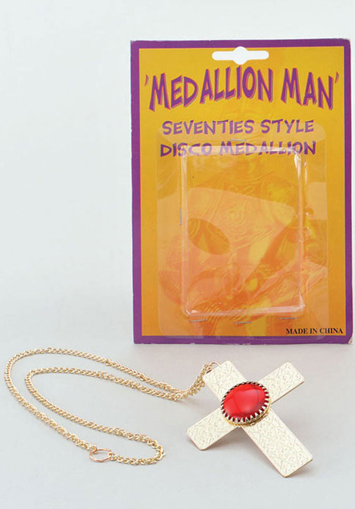 Medallion 70's Gold Cross
