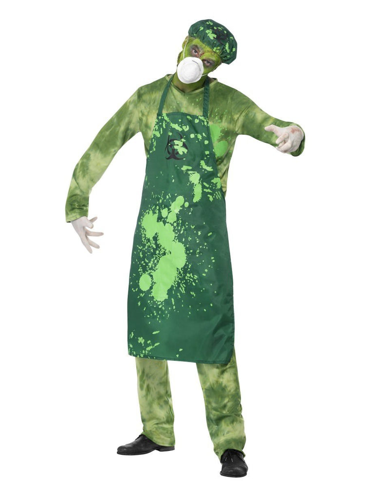 Biohazard Male Costume, Green