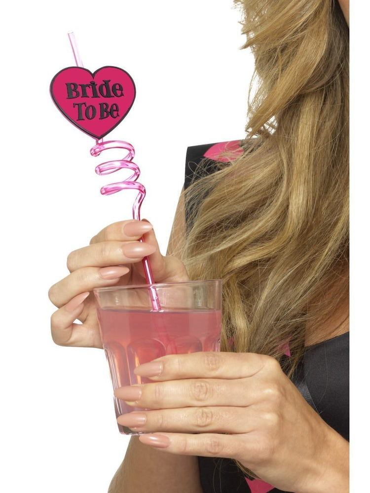 Smiffys Bride to Be Drinking Straw - 44643