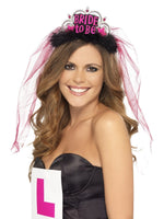 Bride To Be Tiara with Veil, Black26837
