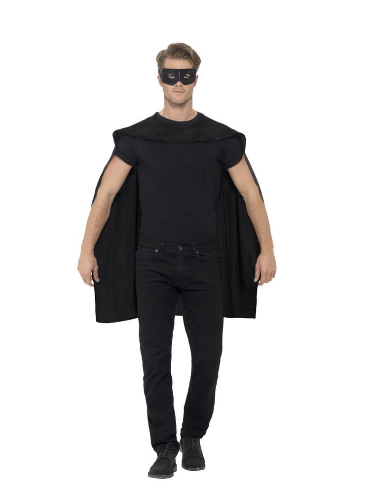 Black Cape with Eyemask