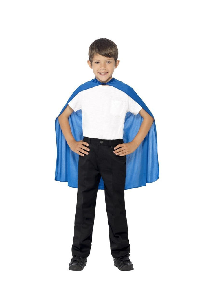 Smiffys Cape, Blue, Kids - 44078