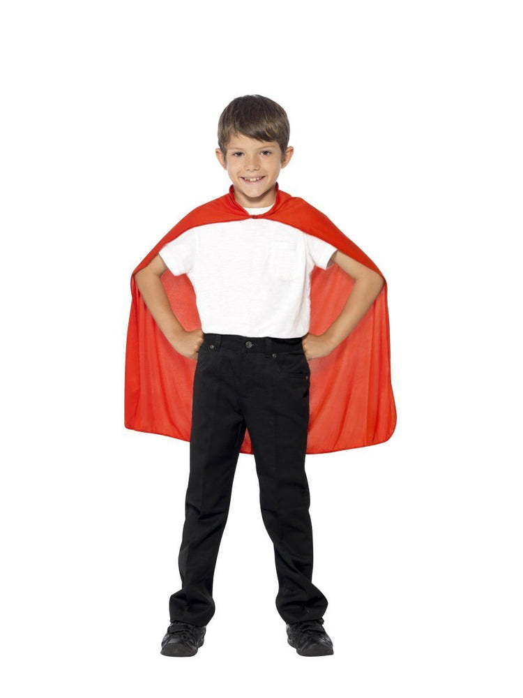 Smiffys Cape, Red, Kids - 44076